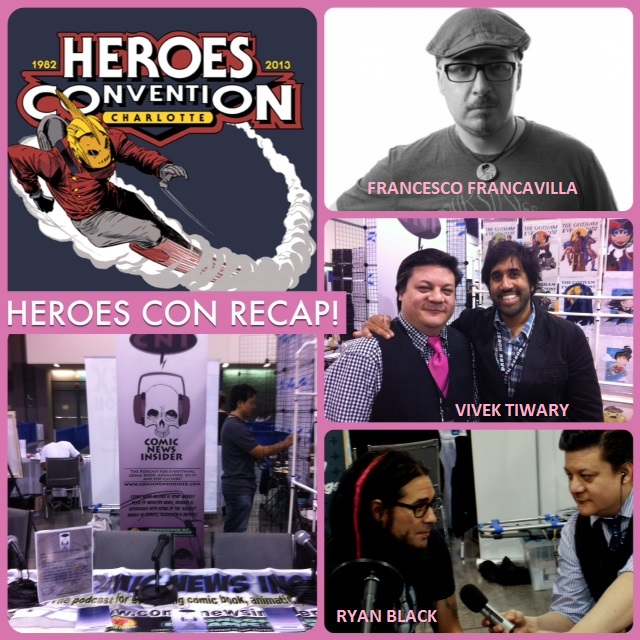 Episode 477 - Heroes Con Recap w/ Francesco Francavilla (Black Beetle), Vivek Tiwary (The Fifth Beatle), Ryan Black (Tension)