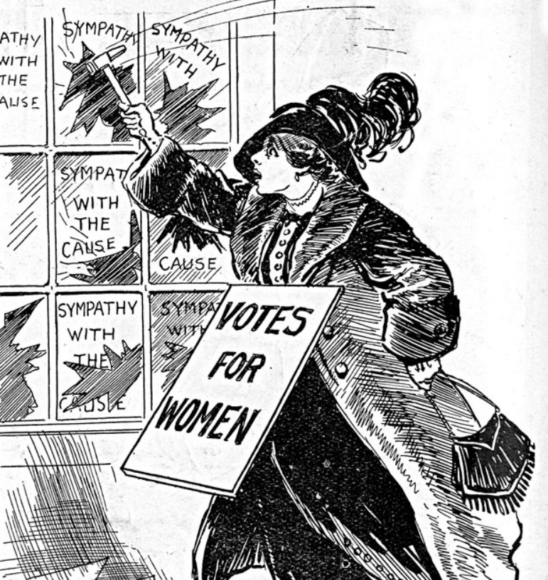 Broken Promises and Broken Windows: The Campaign for Women's Suffrage in Dublin  show art