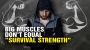 """Artwork for Big muscles don't give you """"survival strength"""""""