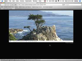 Put a large panoramic image on the web with Photoshop CS3