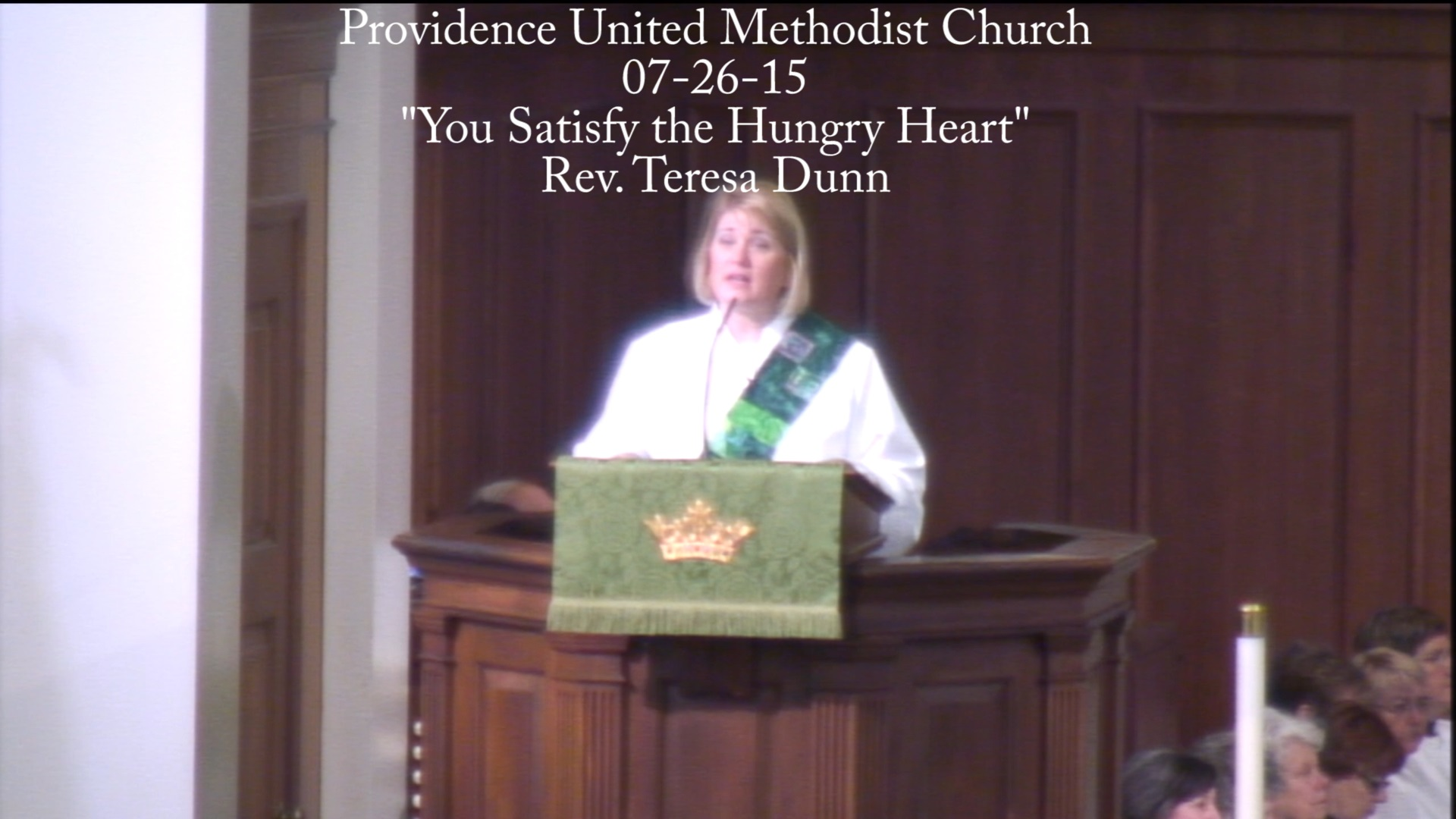 "Traditional Sermon ""You Satisfy the Hungry Heart"""