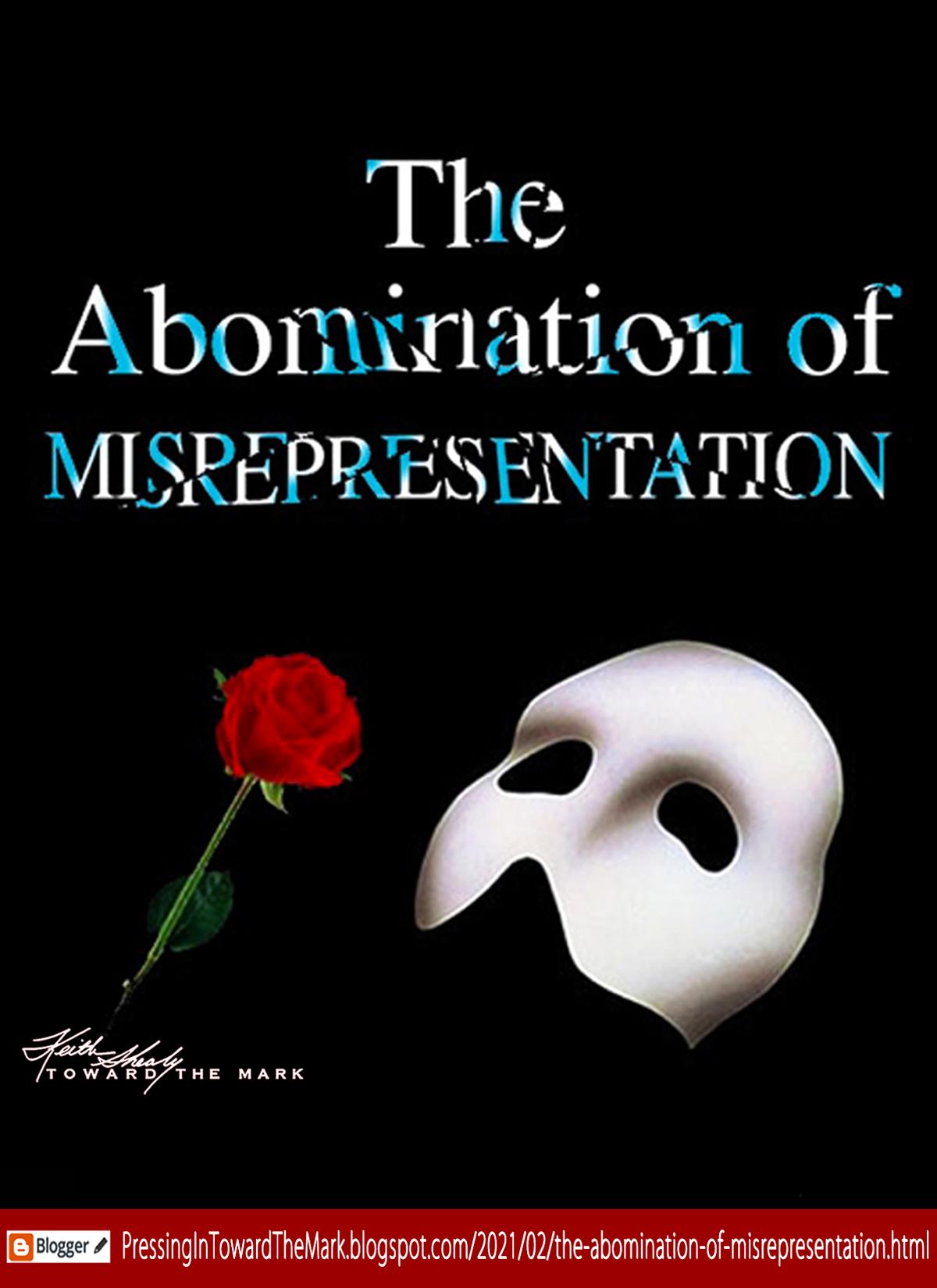 Abomination of Misrepresentation Blog graphic