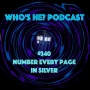 Artwork for Doctor Who: Who's He? Podcast #340 Number every page in silver