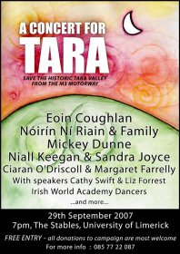 Tara Concert 29th September, Stables @ UL Limerick