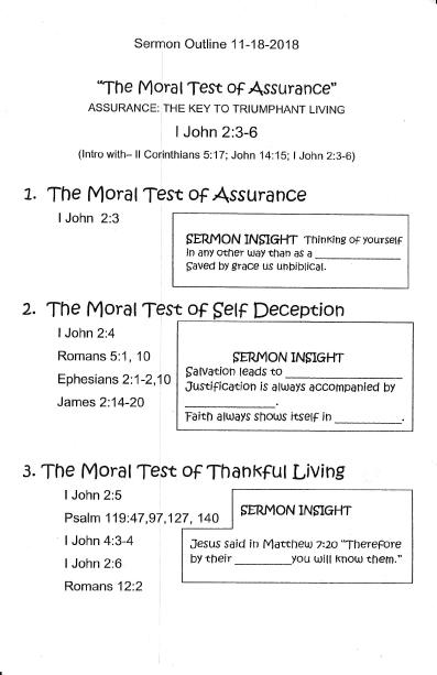 Hindman First Baptist Church: Assurance
