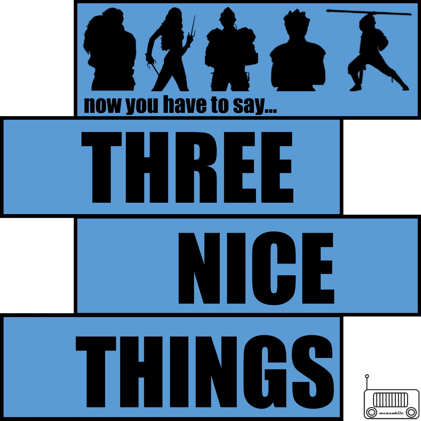 Three Nice Things show art