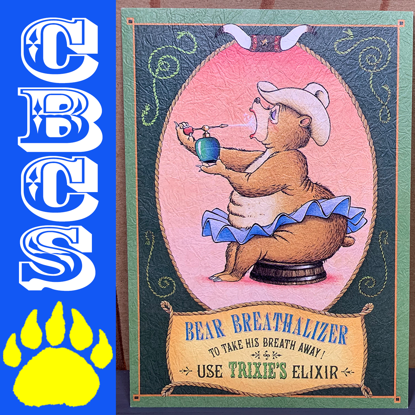 Artwork for Vintage Tokyo Disneyland Trixie Old-Time Ad Postcard - Country Bear Collector Show #216