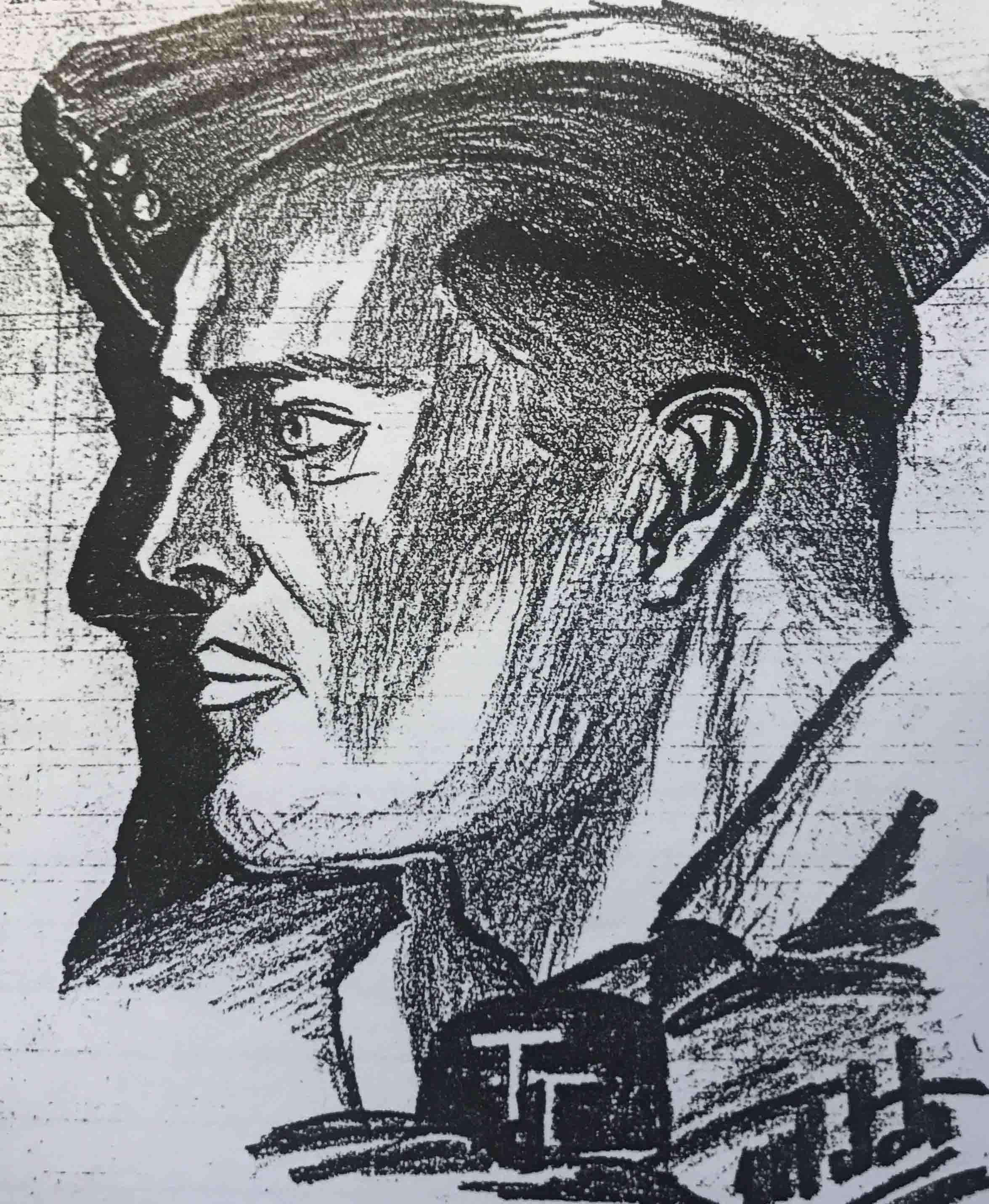 Fred Zilken sketch WWII, Sicily