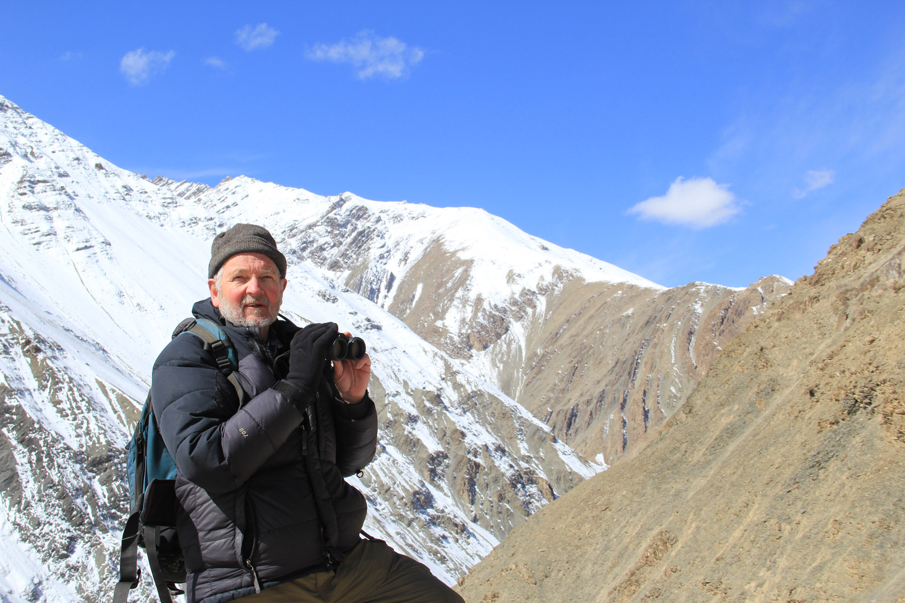 Rodney in front of a mountain vistas in Hemis National Park in Ladakh India - 2013