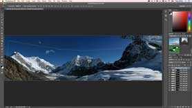 Photoshop CC 2015 - Merge Panorama with Content Aware Fill