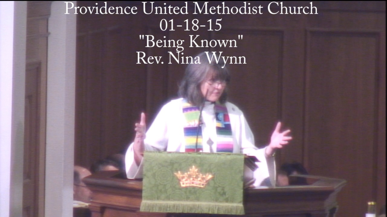 "Traditional Sermon ""Being Known"""