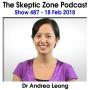 Artwork for The Skeptic Zone #487 -18.Feb.2018