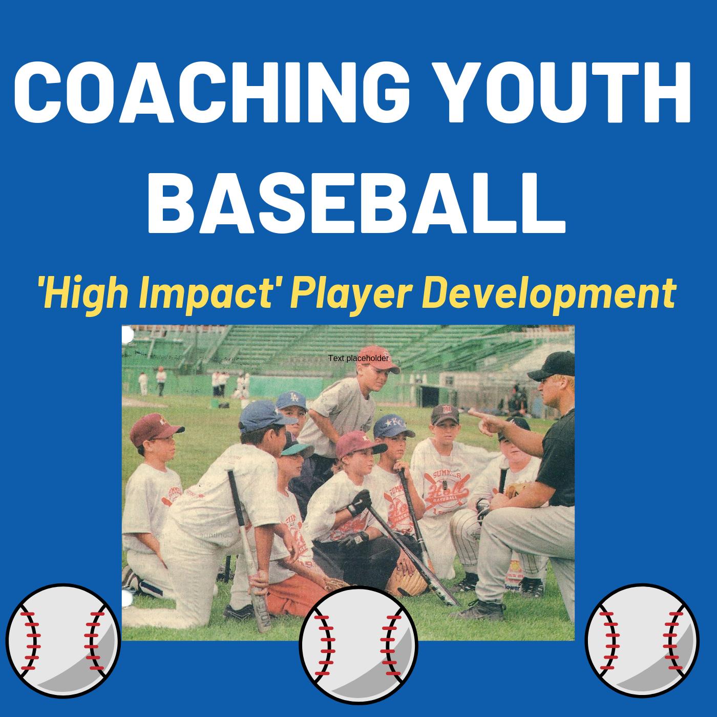 Coaching Youth Baseball show art