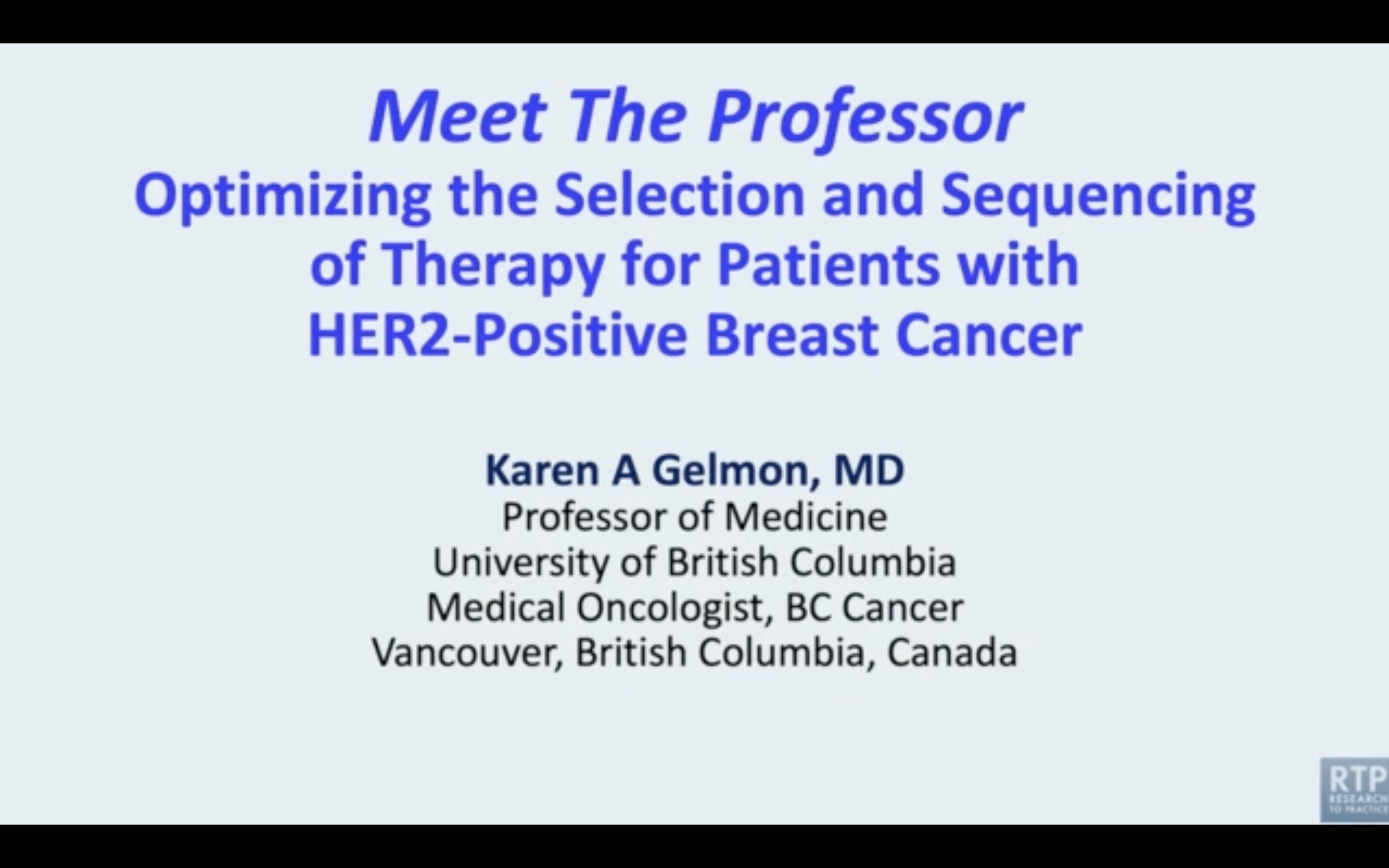Artwork for HER2-Positive Breast Cancer | Meet The Professor: Optimizing the Selection and Sequencing of Therapy for Patients with HER2-Positive Breast Cancer — Part 1 of a 5-Part Series