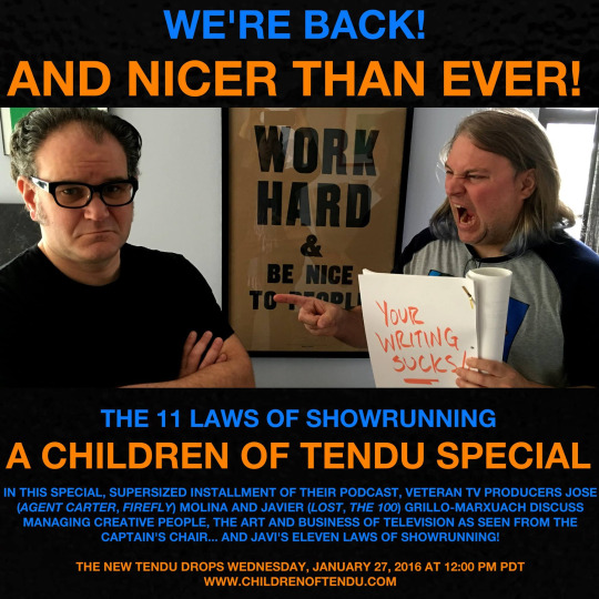 The Eleven Laws of Showrunning - A Children of Tendu Special
