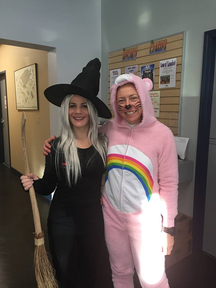 Dawn and Adriana on Halloween