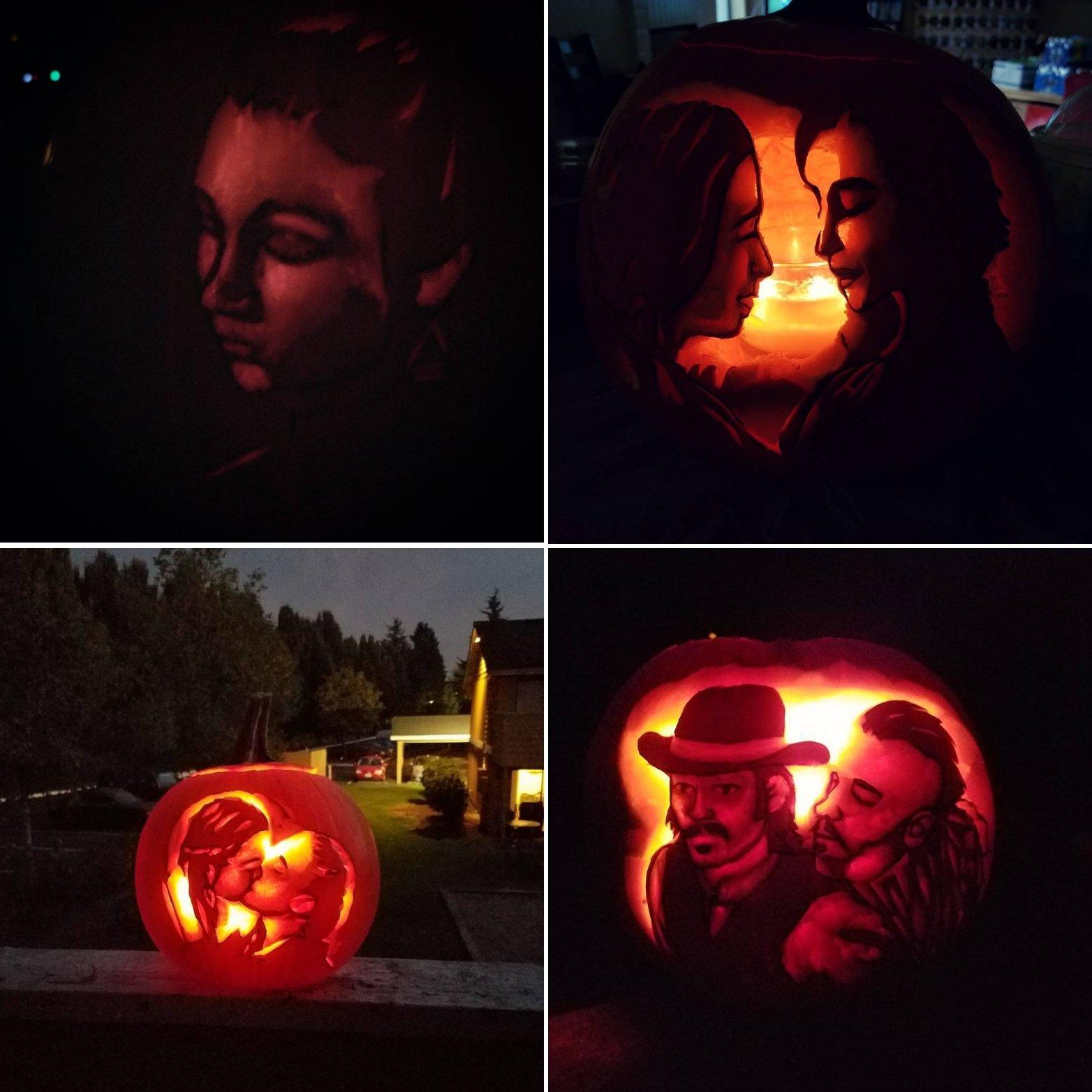 Wynonna Earp Pumpkins by Haughtbreaker
