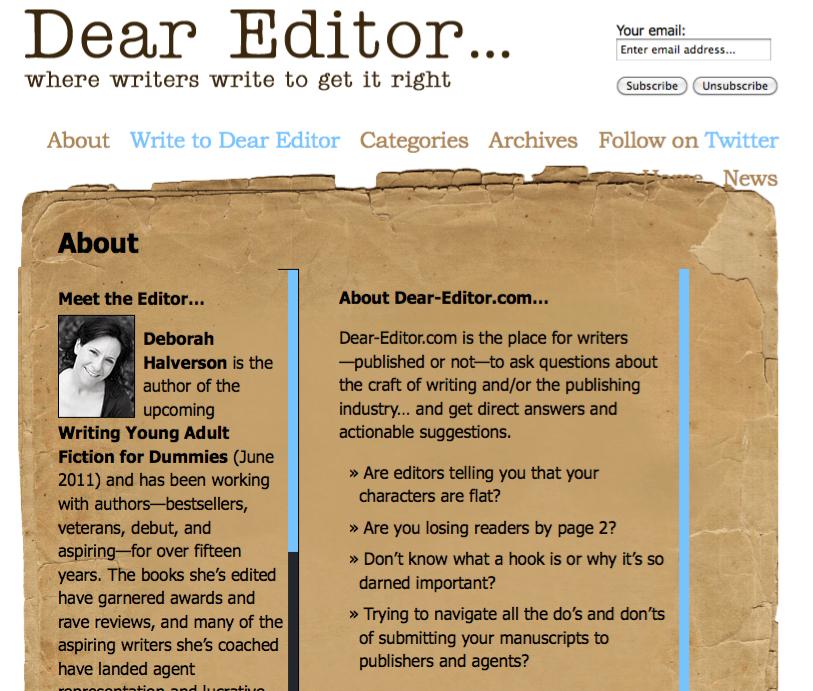 #18 - Dear Editor
