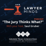 """Artwork for """"The Jury Thinks What?"""" Podcast #1 - Trying the Deliberate and Quick Case w/ Tad Thomas"""