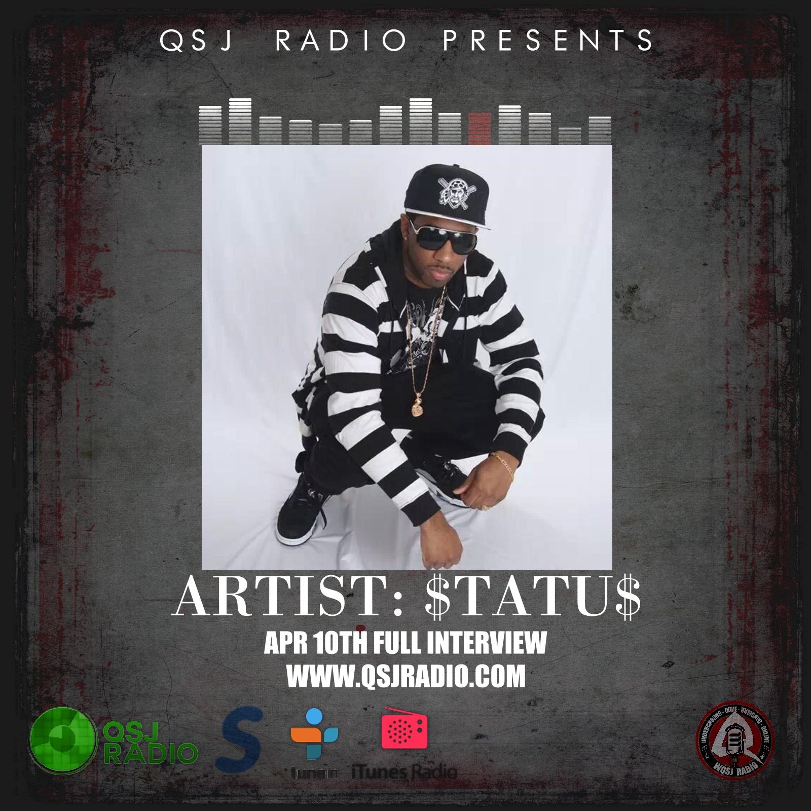 Artwork for 4.10.2014 Podcast QSJ Radio with STATUS @STATUS412