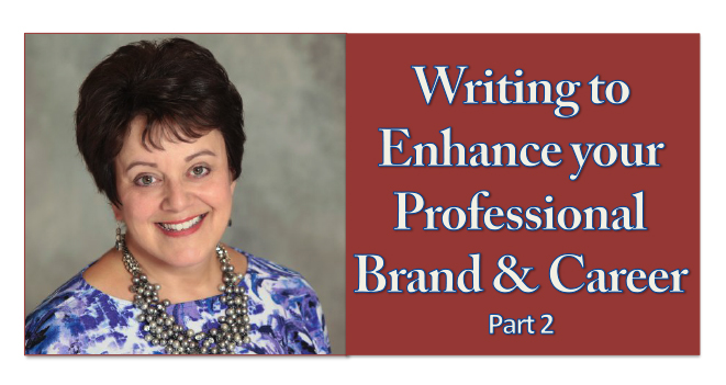 Writing to Enhance Your Professional Brand and Career: Part 2 Pharmacy Podcast Episode 283
