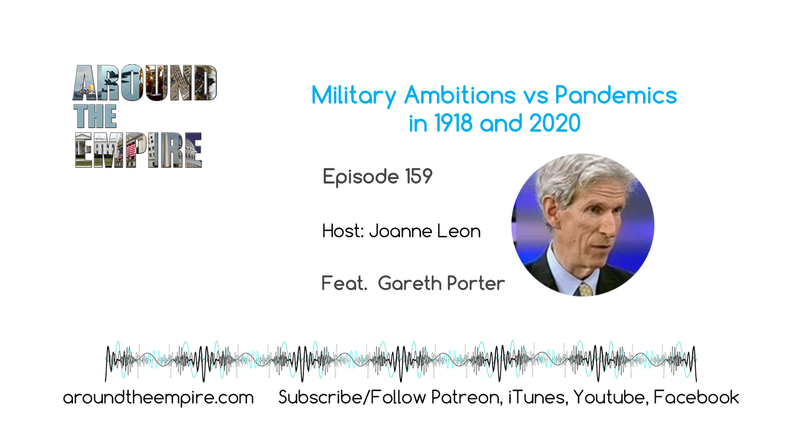 Ep 159 Military Ambitions vs Pandemics 1918 and 2020 feat Gareth Porter