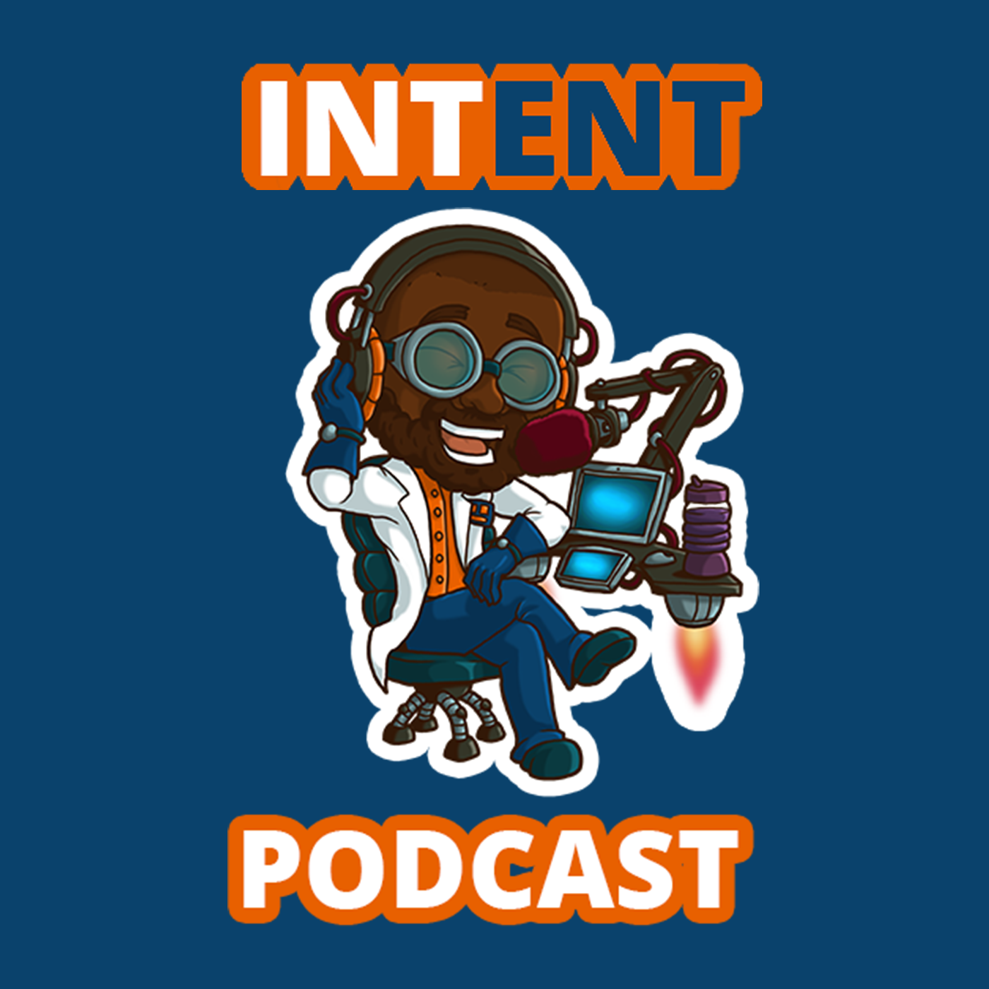 Intent podcast show art