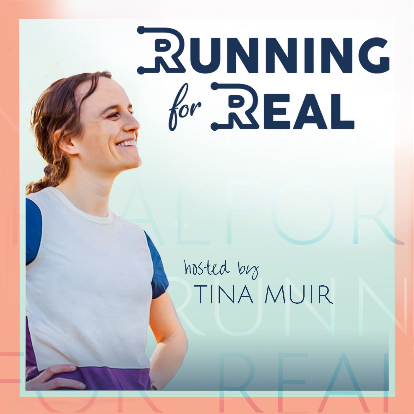 The Running for Real Podcast show art