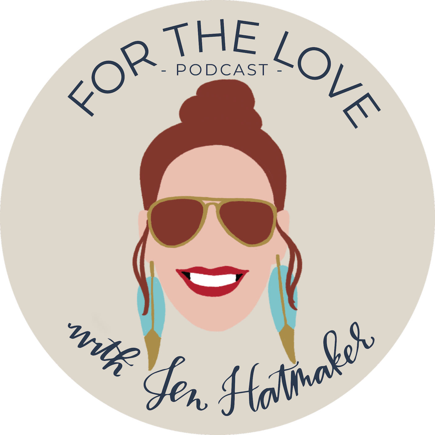 For The Love With Jen Hatmaker Podcast show art