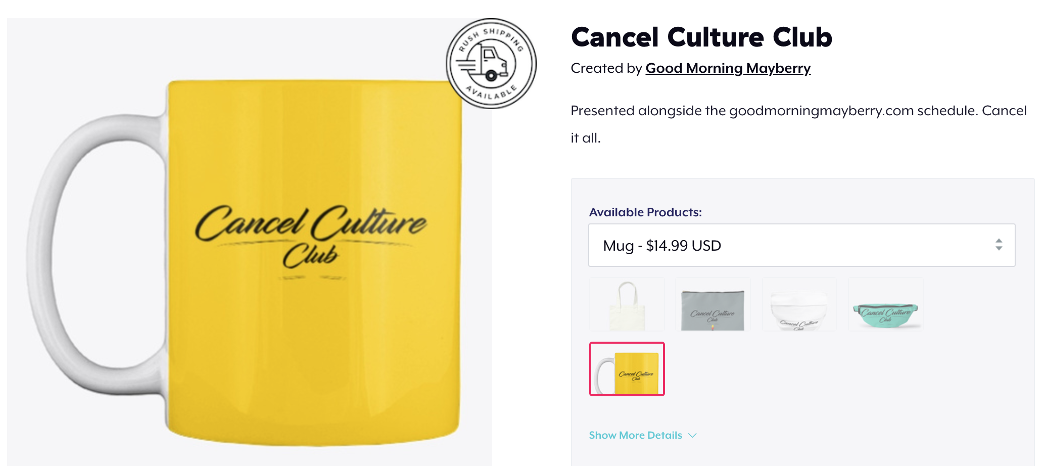 Cancel Culture Club mug