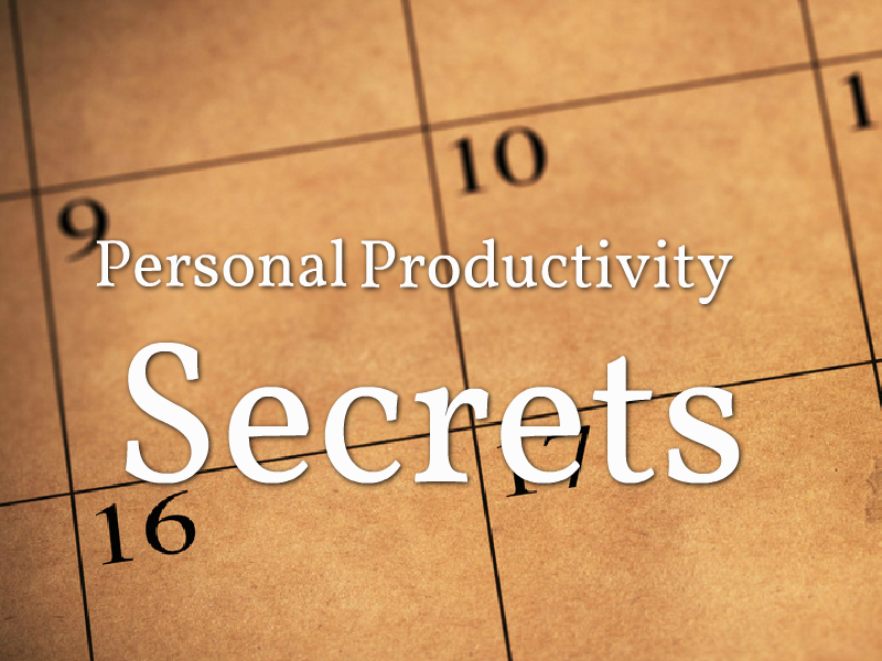 """Personal Productivity Secrets"" with Maura Thomas"