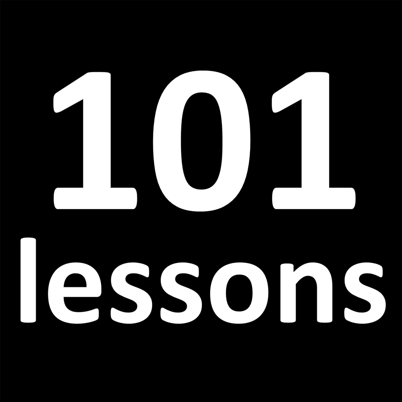 101 Lessons Podcast show art