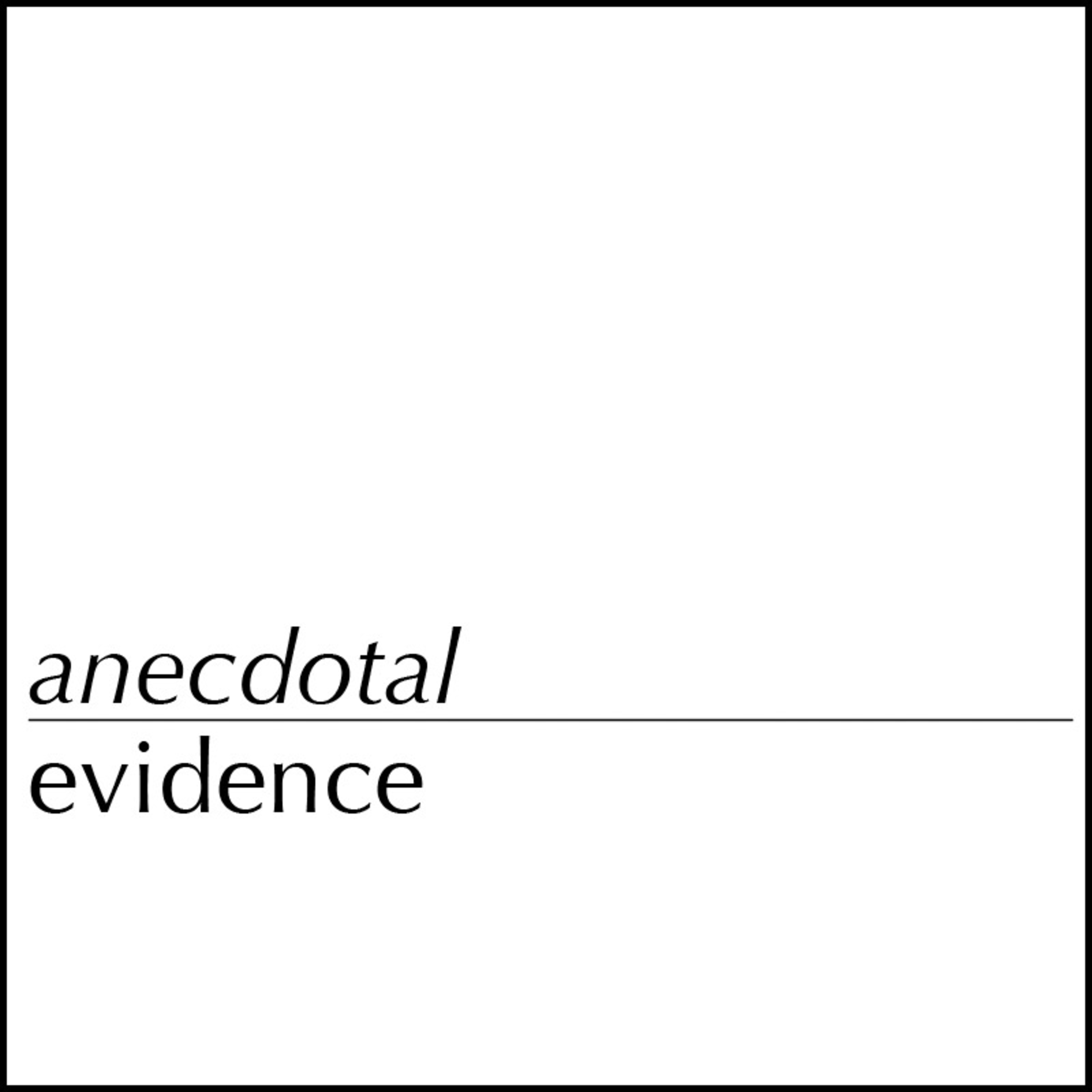 Anecdotal Evidence with Daniel Johnson, MD show art