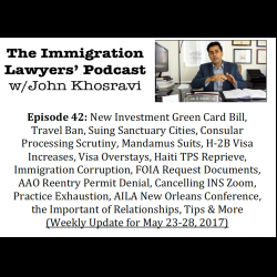 The Immigration Lawyers Podcast | Discussing Visas, Green