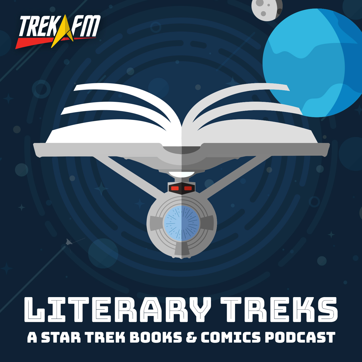 Literary Treks: A Star Trek Books and Comics Podcast show art
