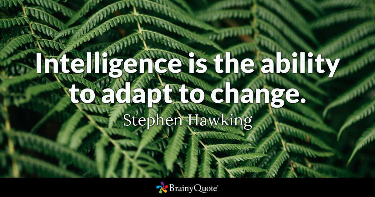 steven hawking on change
