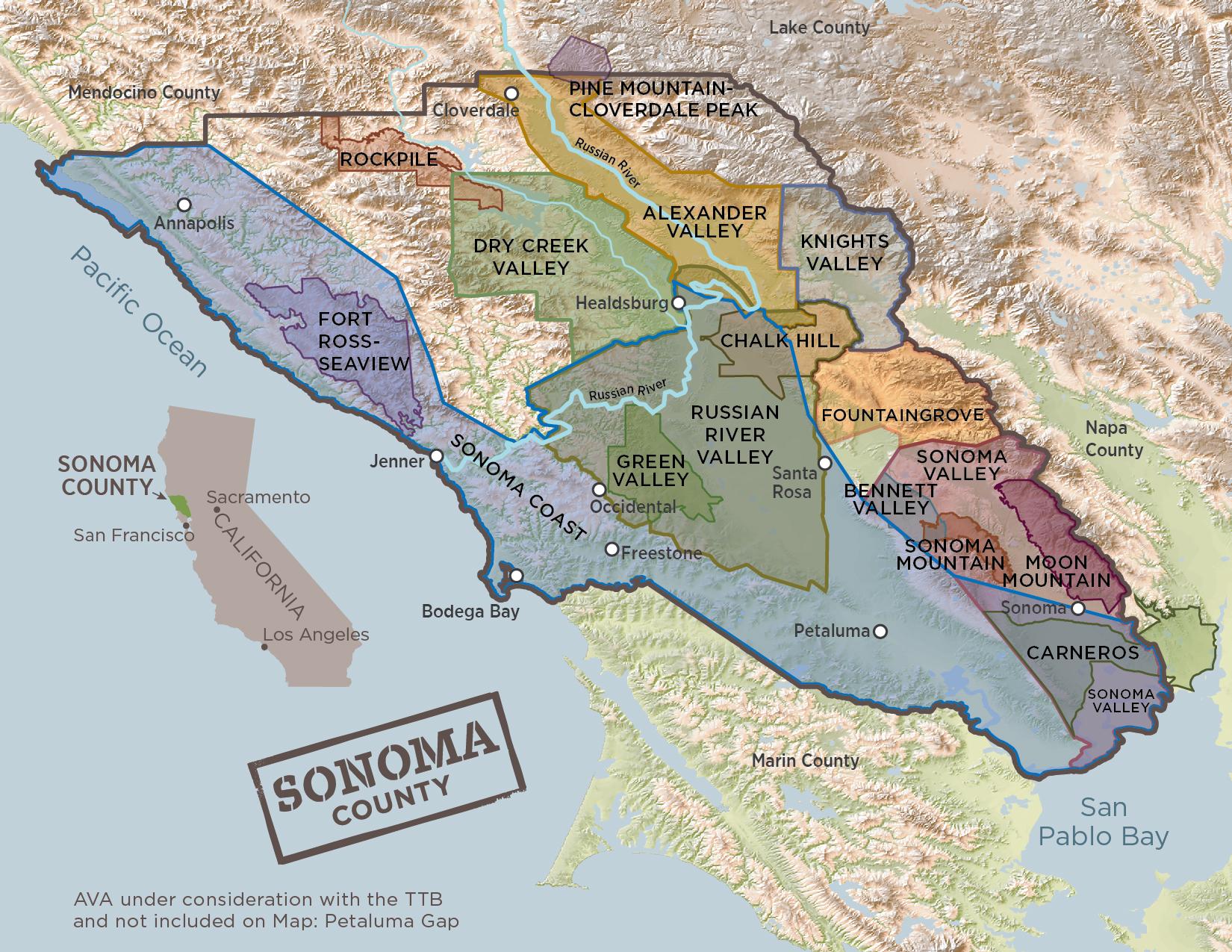 Sonoma County AVAs