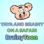 Artwork for Yaya and Brainy on a Safari