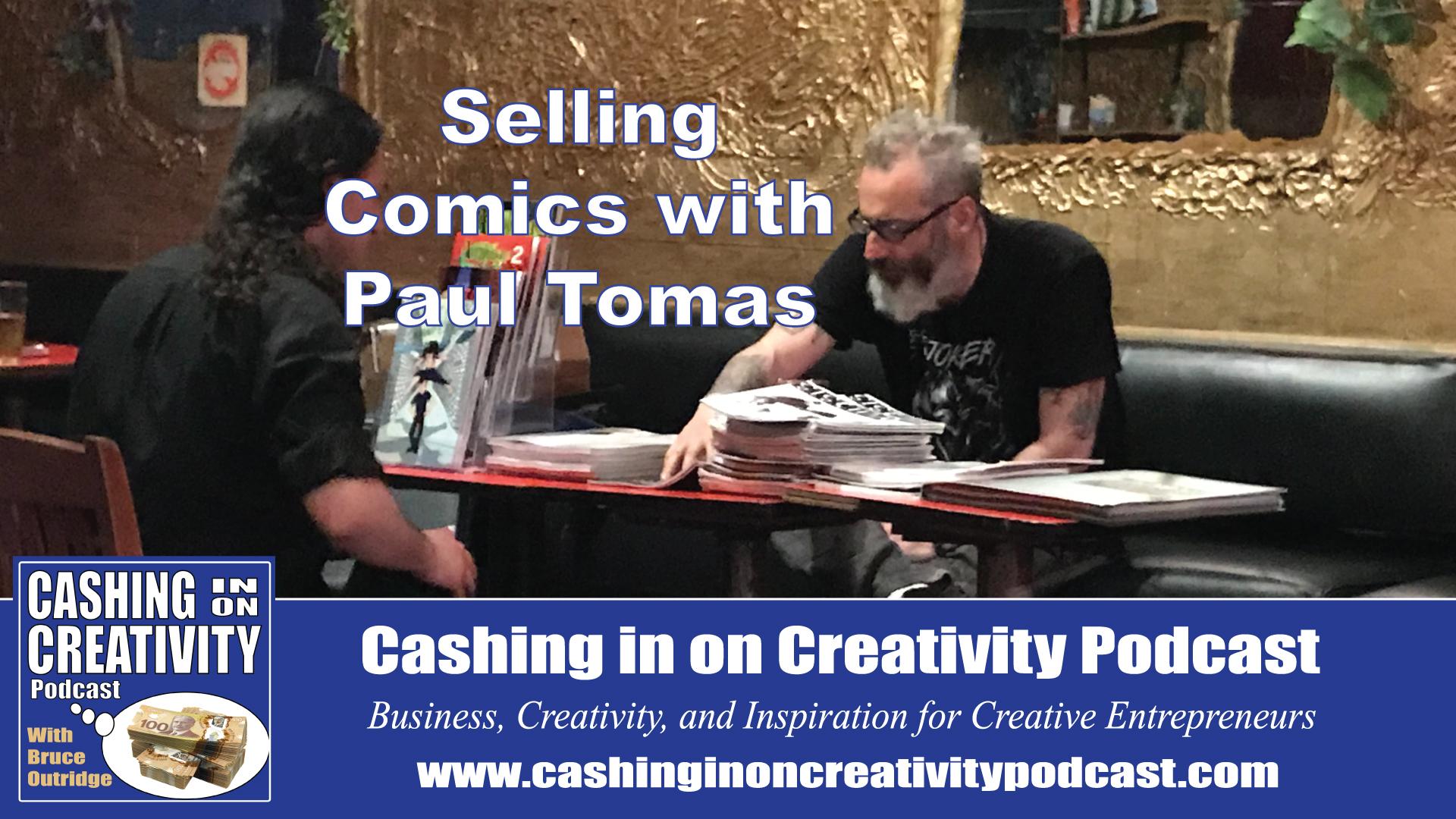 Comic artist Paul Tomas