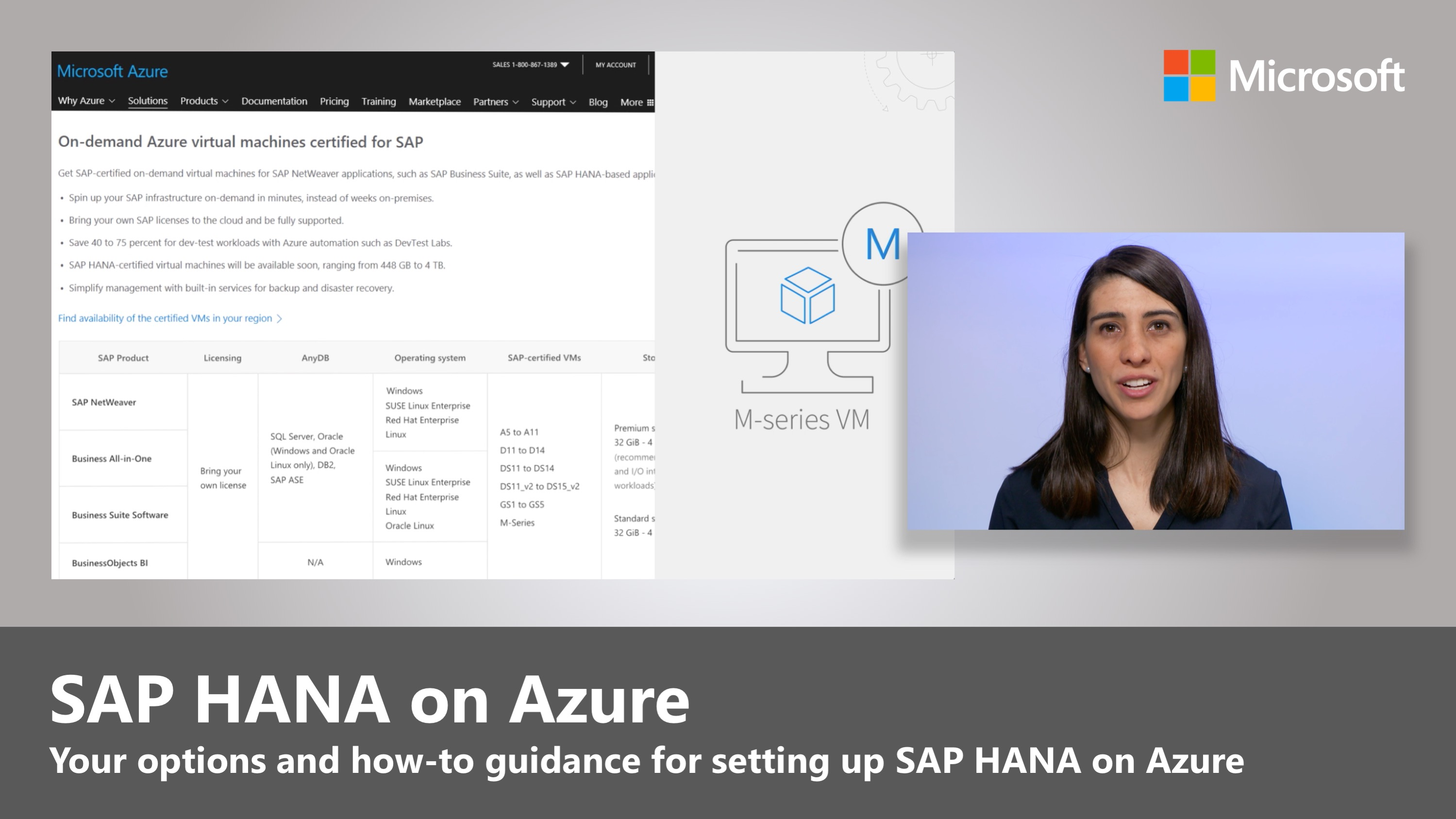 Artwork for SAP HANA on Azure M-series VMs