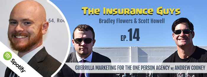 Insurance Guys | Podcast | Andrew Cooney | Guerrilla Marketing | Parking Meters
