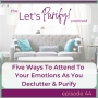 Artwork for 44: Five Ways To Attend To Emotions As You Declutter & Purify