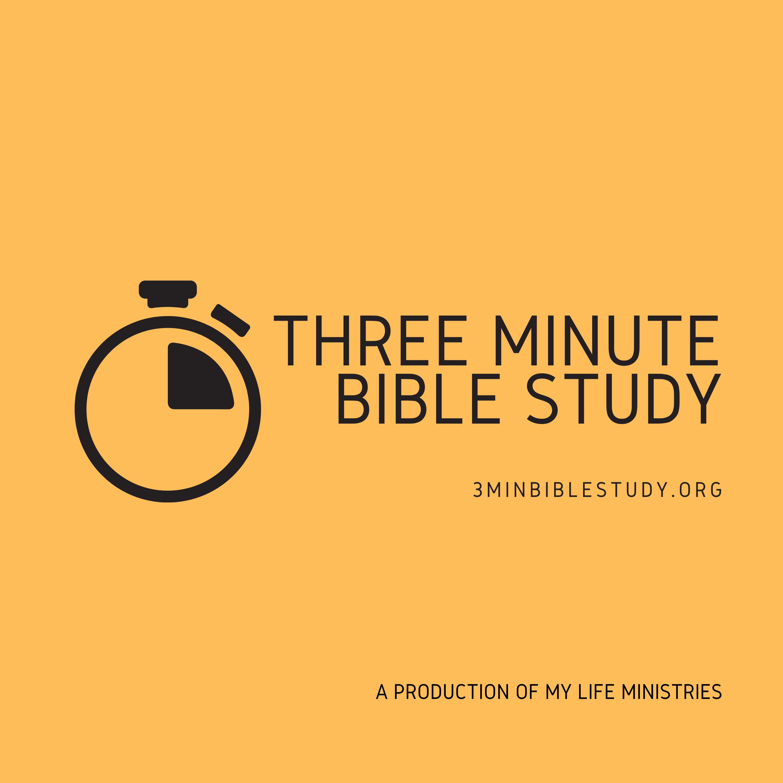 3 Minute Bible Study show art