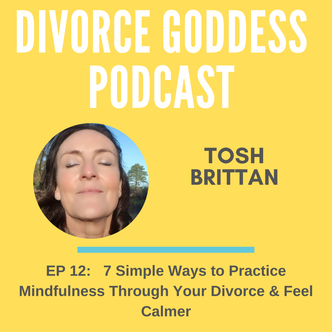 Divorce Goddess Podcast - 7 Simple Ways to Practice Mindfulness Through Your Divorce & Feel Calmer