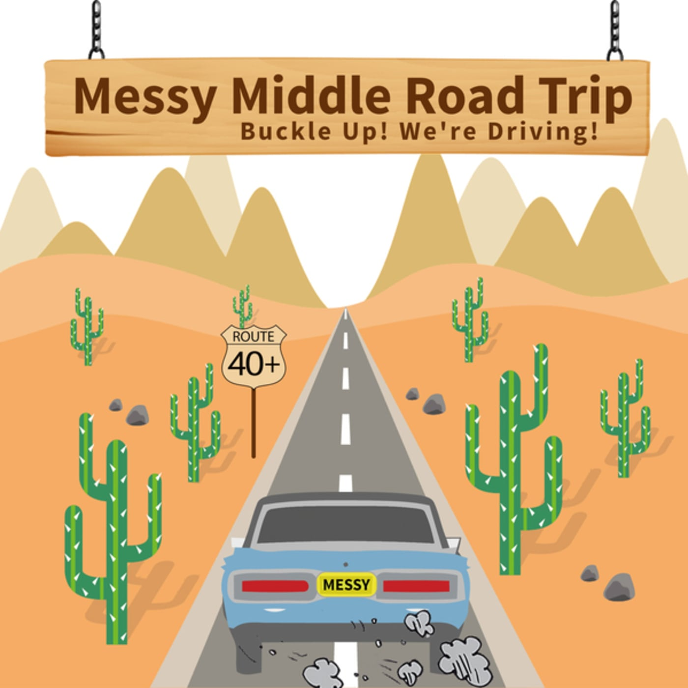 Messy Middle Road Trip  show art