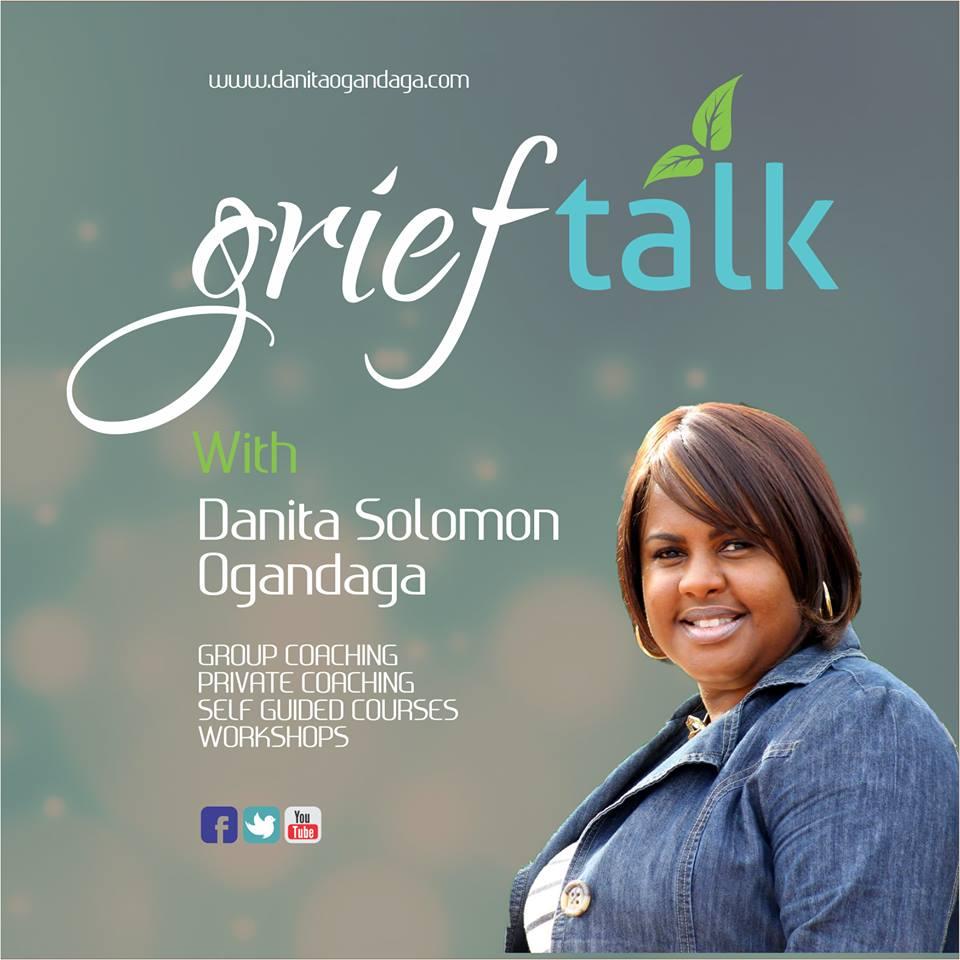 GriefTalk With Danita Ogandaga show art