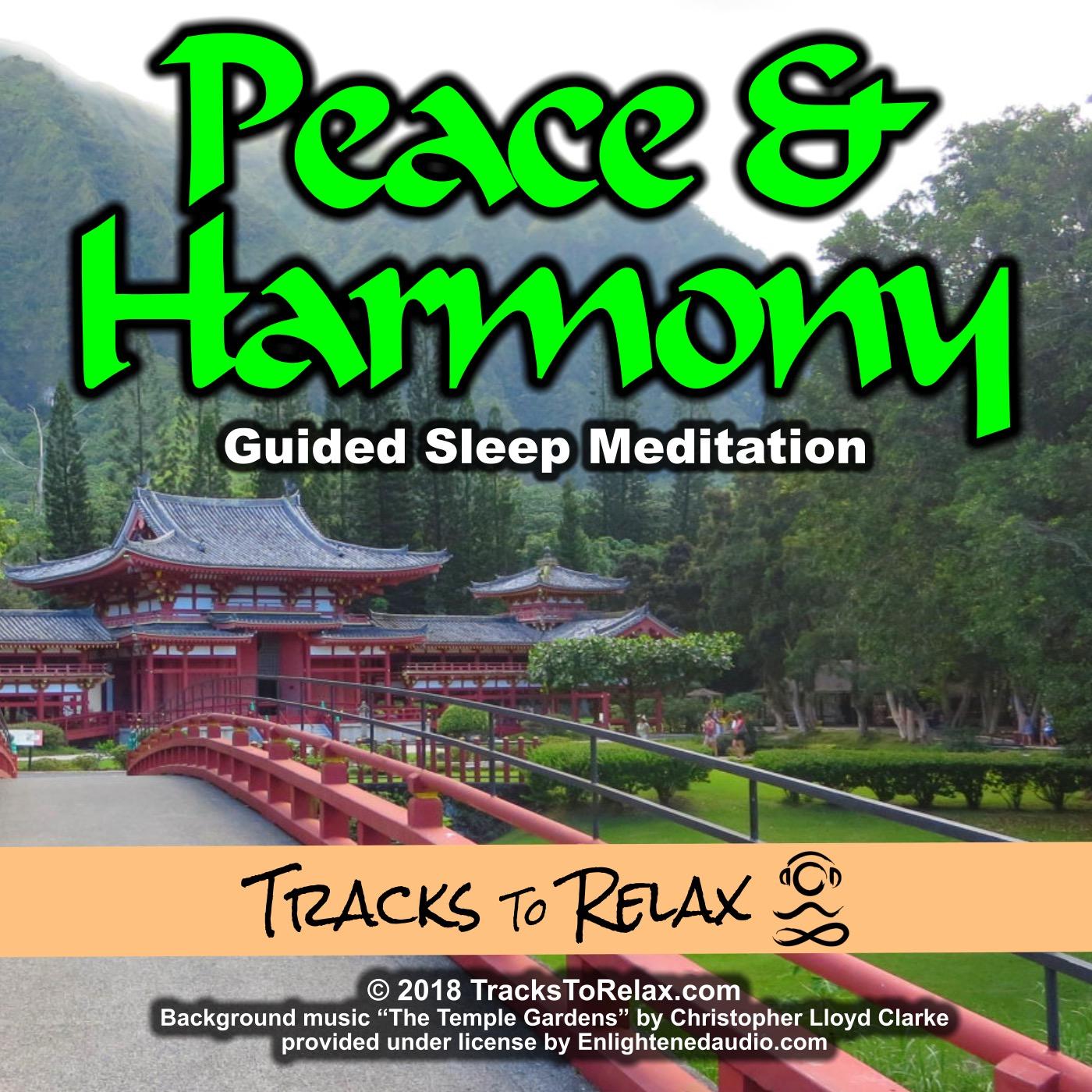 Peace and harmony sleep or nap meditation