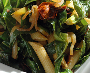 Collard Greens Pasta Toss
