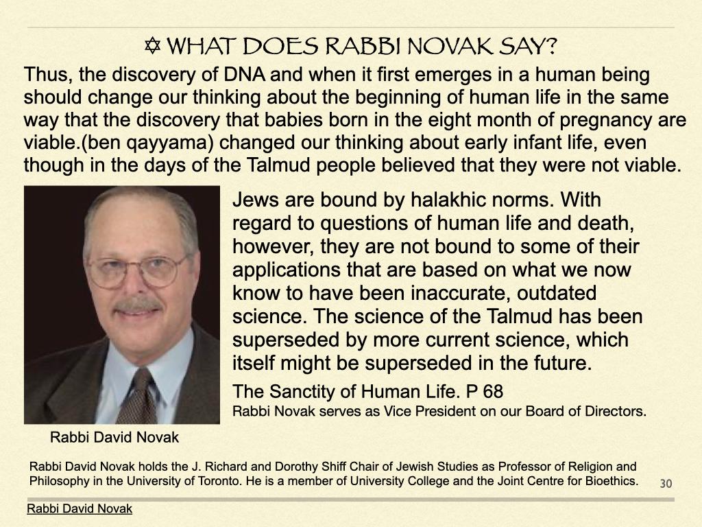 What Does Rabbi Novak Say?