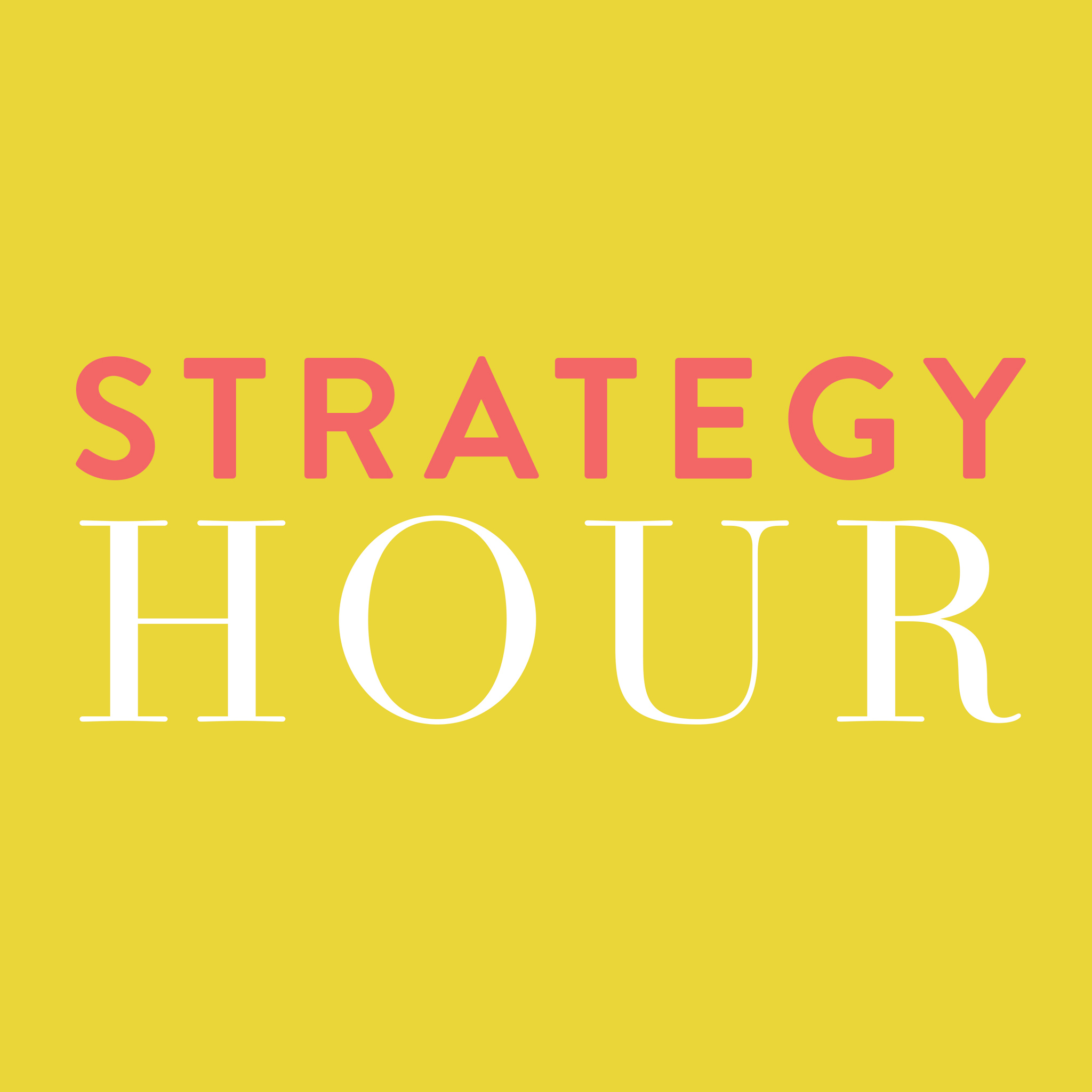 The Strategy Hour Podcast: Online Business | Blogging | Productivity - with Think Creative Collective show art